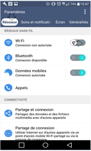 Activer Wifi dans Android